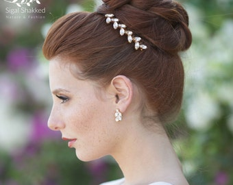 Swarovski Hair Comb Crystal Hair Comb Bridal Hair Comb Gold Hair Comb Bridal Accessories Crystal hair accessories Gold Hair Piece
