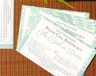 Wedding Day-Of Contact Information - 5 Pack
