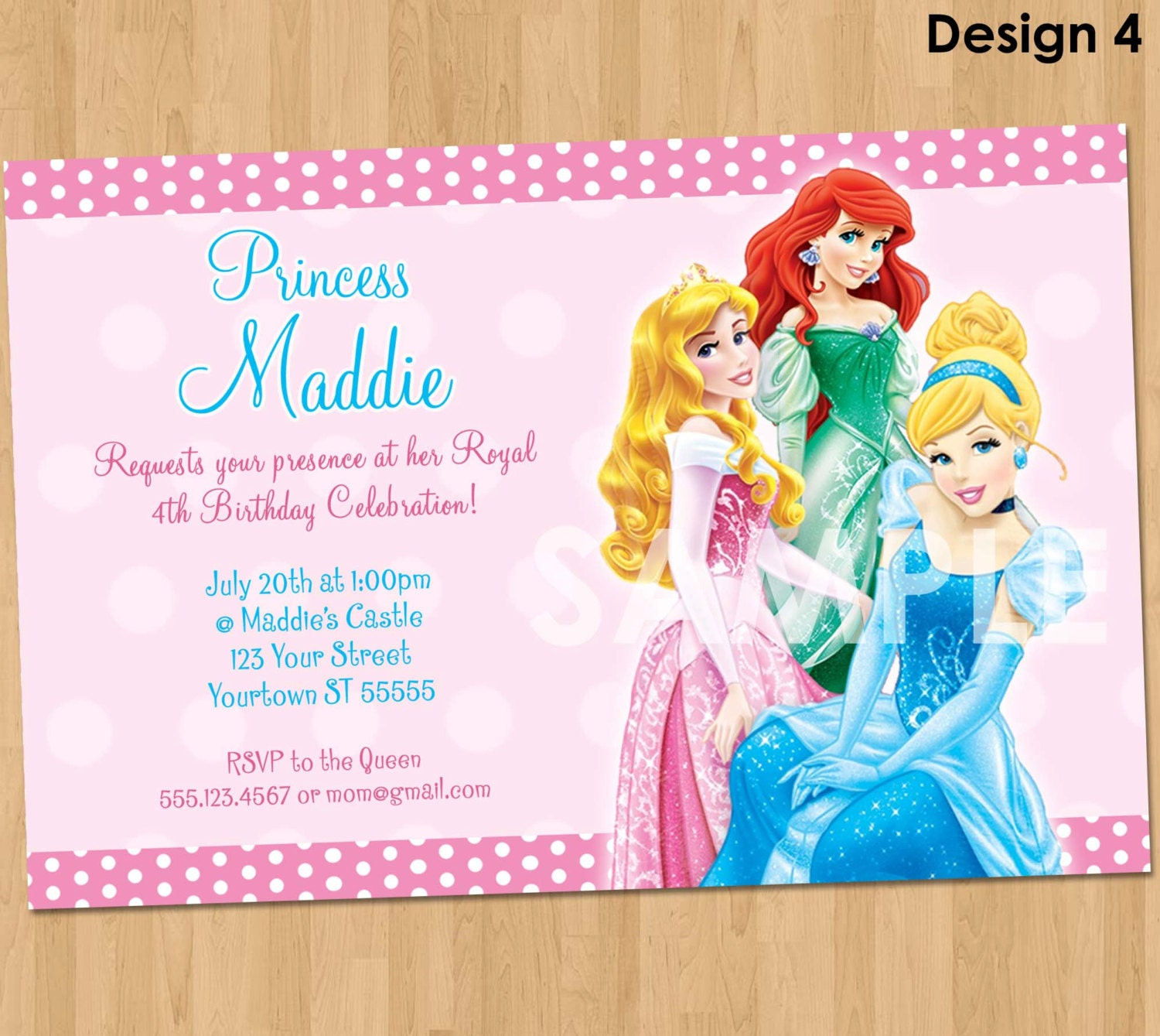 Birthday Princess Invitation Disney Princess Invite