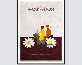 Harold and Maude Minimalist Alternative Movie Print & Poster