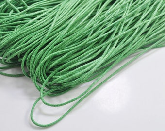 1.5mm Green Waxed Cotton Cord , 25 metres/50 metres Green Macrame Cord, Cotton Cording, Braided Cotton Cord, Jewelry Cord, GD239