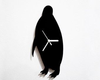 Penguin Silhouette - Wall Clock