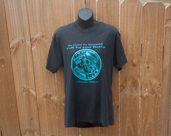 80s Cibecue Arizona shirt - Indian chief t-shirt - Walk for your health screen stars
