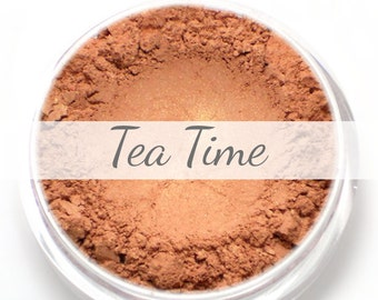 """Mineral Blush Sample - """"Tea Time"""" (peachy pink with golden shimmer ) - Vegan"""