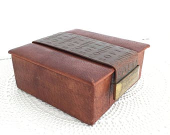 Leather jewelry box Etsy
