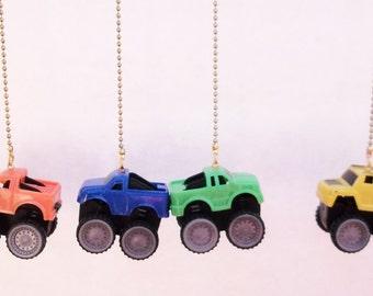 Handcrafted Monster Trucks Ceiling Fan/Light Pull Chain