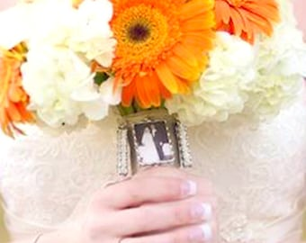 Hand Soldered Photo Bouquet Charm, Photo edit included, Photo and or Quote, Customized