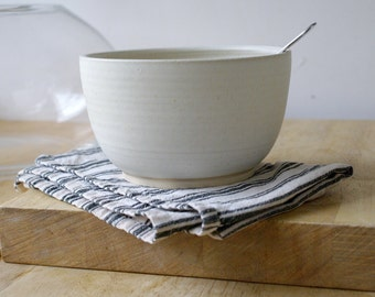 Made to order - Set of four large pottery soup bowls choose your colour