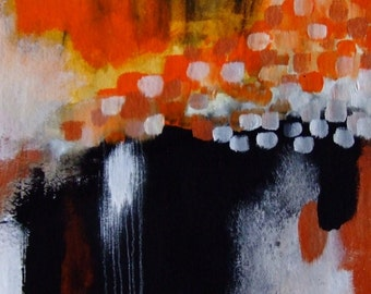 Abstract Art Abstract Painting Abstract Landscape Abstract Contemporary Art Abstract Wall Art Abstract Fine Art Abstract Decor Orange Black
