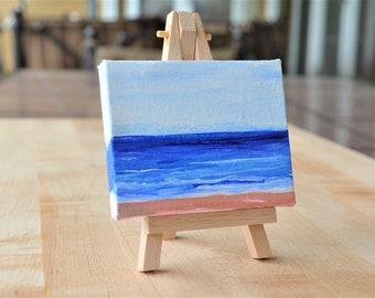 Calming Ocean Painting, Beach Painting