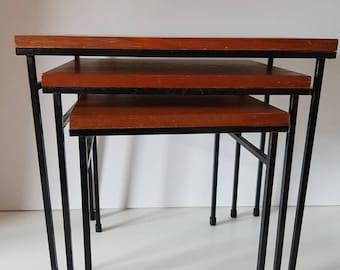 Mimiset Nest Seite Tabellen Holz Metall Pastoe Stil