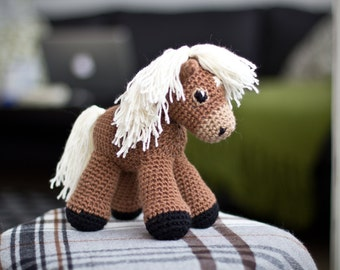 Free Amigurumi Lion Pattern : Amigurumi pattern horse crochet pattern stuffed animal toy