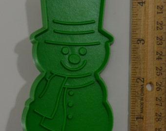 "Vintage AMBASSADOR SNOWMAN CHRISTMAS Cookie Cutter | 1981 4.25"" Hallmark"