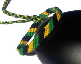 Friendship Bracelet model 2, unisex colors Jamaica