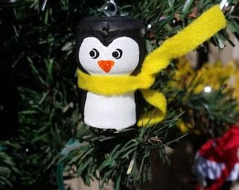 Penguin,Snowman Ornaments (Set of 2) Champagne Cork,Christmas Decor,Christmas,Ornaments,Cork Crafts,Cork Art,Tree Decor,Holiday Decor