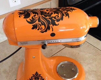 Damask Kitchenaid Mixer DECALS  Vinyl Wall Lettering Words Quotes Decals Art Custom