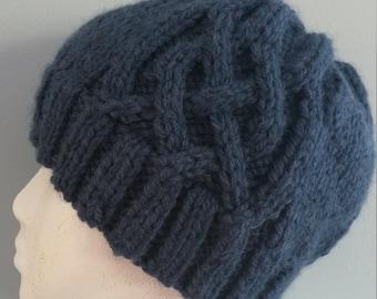Dark Blue Saxon Braided Hat