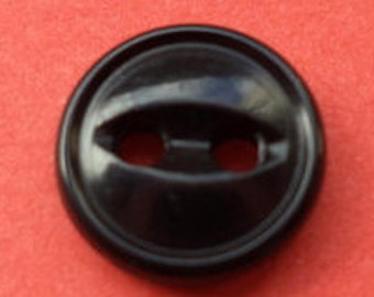 10 small buttons 8mm black (95) button