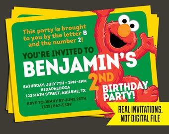 Elmo Invitation   Elmo Birthday Invitation - Sesame Street Invitation