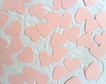 50 Light Pink Heart Confetti-1 Inch-Scrapbooking-Gift Wrapping-Embellishments-Wedding-Party-Cards-Die cuts-Punches