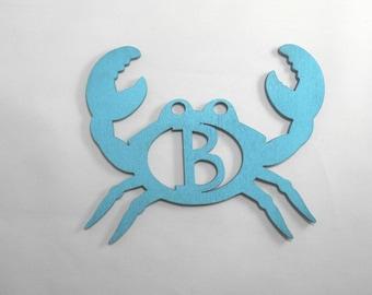 Crab door hanger - Patio wall hanger, beach home decor, poolside decor, patio decorations, crab decor, beach decor, birthday decor, for her