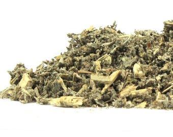 Organic HOREHOUND HERB, certified Organic and Kosher. Irradiation free. You choose size- 1/2 or 1 oz. Marrubium vulgare.