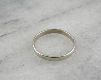 Vintage White Gold Wedding Band, White Gold Band, Vintage Gold Wedding Ring CJ6X58-R