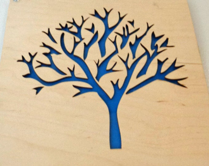 Plywood Tree and Recycled Aluminum