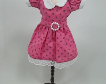 Blythe Outfit Handcrafted polka dots dress basaak doll # 12-46