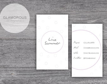 Business card / business card - Lina circle