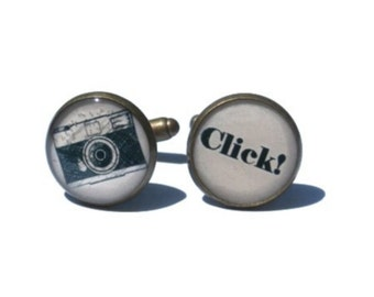 Camera Cufflinks - Camera Gift - Photography Gift - wedding photographer - Photographers Gift - Wedding Cufflink - groom gift - gift for him