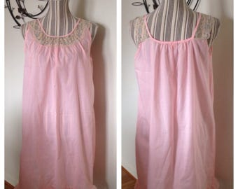 Vintage Pink Cotton Katz Nightie