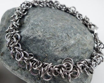 Hochflor Loops Edelstahlband - Chainmaille