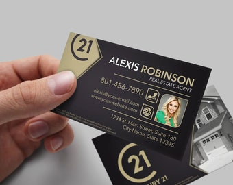 Century 21 business card real estate business card design century 21 business card real estate business card design realtor business card brokerage colourmoves