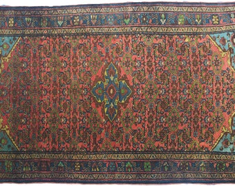Handknotted Woollen Persian Antique Borchalu Rug 207x127cm