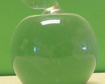 Rare Signed Steve Wozniak 1986 Apple II GS Woz Crystal Art Glass Apple Paper Weight #229 - Free Shipping