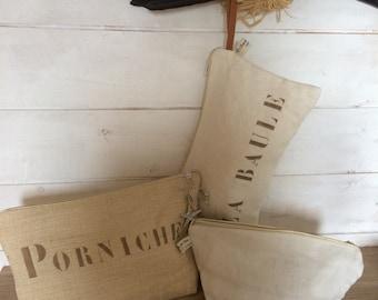100% of Normandy linen clutch