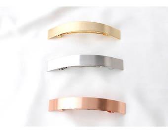 Long Thin Barrette - Long Skinny Hair Clip - French Barrette - Minimalist Barrette - Simple Hair Clip for Woman - Gold Hair Barrette