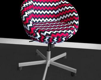 Black White Red Chevron IKEA SKRUVSTA Chair Slip Cover
