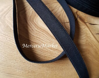 13 mm soft black elastic