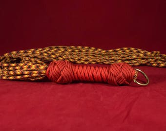Red Flamey Paracord Flogger