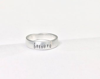 Mantra Ring Silver, Inspirational Rings for Women, Best Selling Items, Motivational Jewelry for girls, Mothers Day from Daughter, Tween Girl