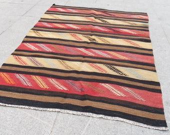 runner kilims, Kilim, kilim rug, smal kilim turkish, 518