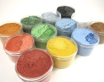 12 Color Milk Paint Sampler - Non-toxic All Natural Paint Perfect for Unfinished Wood Projects - Primary Colors
