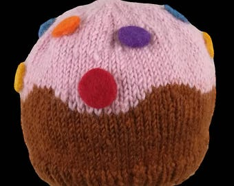 Cupcake baby infant hat