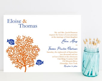 Tropical Wedding Invitations - Sample