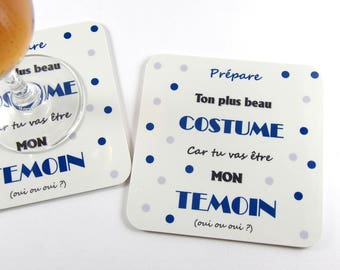 Original gift asking witness man coasters wedding coasters wedding magnet