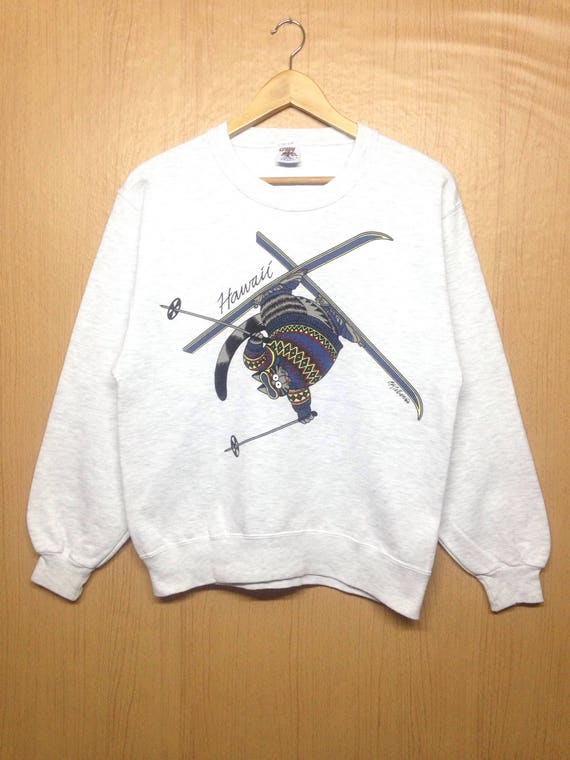 90's BKLIBAN Crazy Shirt Sweatshirt Jumper Small Size Nice Design Made In Usa HZOE9