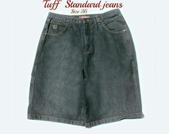 men's jean shorts, denim shorts,blue jean shorts, carpenter shorts,90's shorts, size 35-36 shorts, # 12
