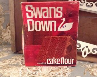 Vintage Swans Down Cake Flour Box